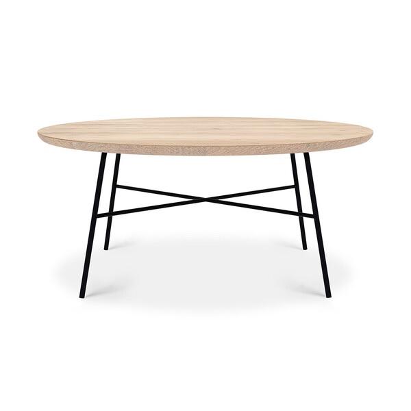 Table basse oak disc