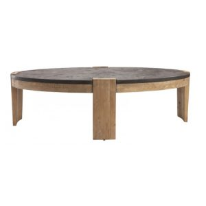 Table basse pierre bleue
