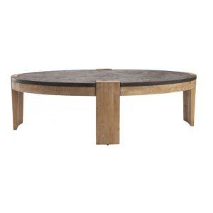 Table basse pierre bleue