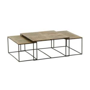 Table basse gigogne or