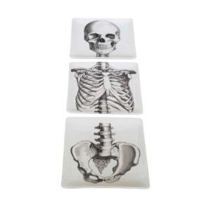Assiettes squelette
